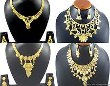 Necklace Earrings Jewelry sets Gold Plated Stylish Chic Indian Designer Jewelry