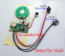 Button/Light Sense Recordable Voice Module Music Box Sound Chip Record Gift DIY