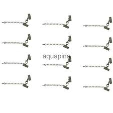 Lobster Clasp Clip Ends Set with Extender Chain Hematite Black 16/13mm 12pcs
