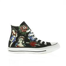 Womens CONVERSE CT HI Tattoo Black Canvas Trainers 145642C
