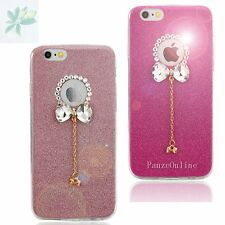 Bling Sparkle Bowknot Crystal Soft TPU Case Cover For iPhone 6 6S 6Plus Hot Pink