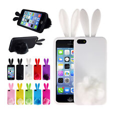 Soft Cute Rabbit TPU Back Protector Phone Cover Case Skin For iPhone 5/5S