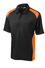 CornerStone® Select Snag-Proof Two Way Colorblock Mens Pocket Polo XS-4XL New!