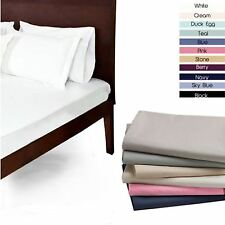 100% EGYPTIAN COTTON FLAT SINGLE DOUBLE KING SUPERKING SHEETS 200 THREAD COUNT