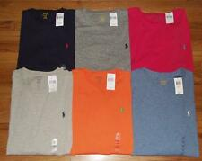 NEW NWT Mens Polo Ralph Lauren Crewneck T-Shirt Pony Logo Long Sleeve 6-Colors