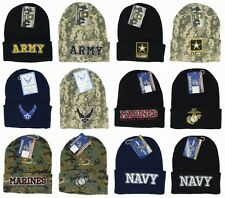 US Army,Navy,Marines,Air Force Military Official Licensed Beanies Winter hat