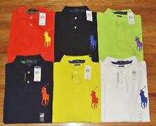NWT Mens Polo Ralph Lauren Custom Fit Polo Shirt BIG PONY LOGO 6-Colors *G5