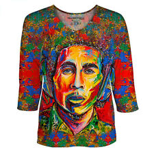 Bob Marley Red for Womens Dolman Sleeve Top designed by Shaff Oceans