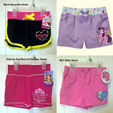 NEW My Little Pony Sofia the First Princess Minnie Mouse Girls' Summer Shorts