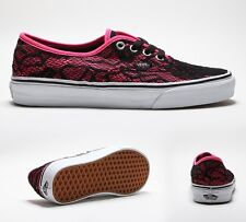 Womens Vans Authentic Neon Pink Lace Trainers RRP £51.99.