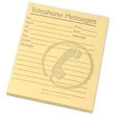 Pack of 10 Yellow Tinted Telephone Message / Phone Memo Pads 80 Sheets per Pad