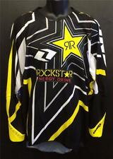NEW MENS ONE INDUSTRIES DEFCON 'ROCKSTAR' JERSEY - MX * BMX -BLACK -ADULT XLARGE