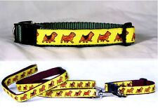 Dog Ink NEW US Made Leash/Collar Set Norwich Terrier