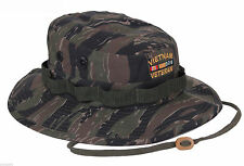 Vietnam Veteran Boonie TIGER Deluxe Custom Embroidered Military Style Hat 5932
