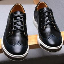 Retro oxfords Men's sneaker lace up pointy trendy brogue dress casual flat shoes