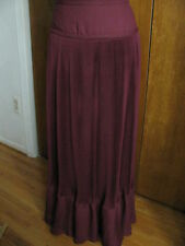 New Anthropologie by Maple wine/bordx Pleats Abounding Long Skirt Sz 4,6,10 $148