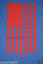 Levi's T Shirt Levi Strauss & Co Blue With Red USA Flag Levis