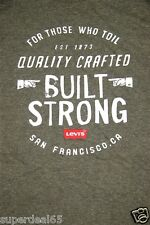 Levi's T Shirt Levi Strauss & Co Melange Green For Those Who Toil Levis Built