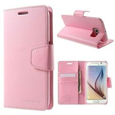Genuine MERCURY Goospery Pink Leather Flip Case Cover For Galaxy S6 & S6 Edge