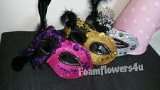 LACE SEQUIN FEATHER GLITTER MASQUERADE DRESS UP PARTY BALL EYE MASK
