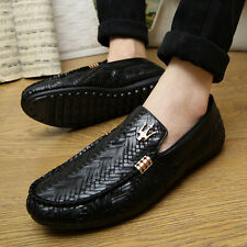 New shoes men loafers slip-on casual leather boats platform breathable moccasins