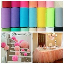 "Tutu Tulle Roll 6"" 25Y Spool Gift Bow Fabric Craft Bridal Skirt Wedding Favours"