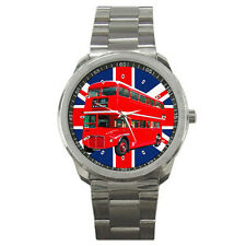 New London Bus Sport Metal Watch Free Shipping