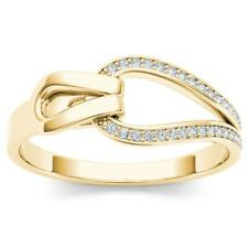 10Kt Yellow Gold Diamond Knot Ring