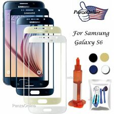 Front Outer Screen Glass Lens Replacement For Samsung Galaxy S6 UV Glue/Tool Kit