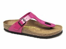 Birkenstock GIZEH Ladies Womens Toe Post Summer Beach Buckle Sandals Patent Pink