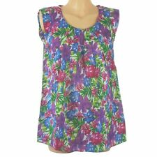 Ex BHS Riviera Summer Tunic Top Bright Floral Pleated Holiday Beach 10 12 14 NEW
