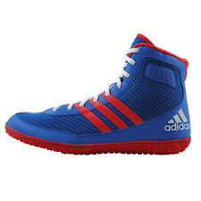 Adidas Mat Wizard.3 MEN'S Wrestling Shoes, Royal Blue-Red-White  S77970  NEW!