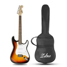 Zebra™ ST Type Solid Poplar Electric Guitar with Gig Bag ST-02