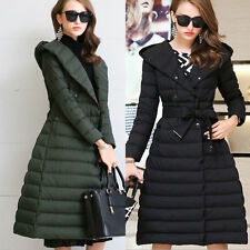Hot Womens Thick Warm Slim Parka Winter Duck Down Long Jacket Long Coat Overcoat
