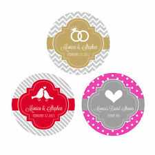 Custom Personalized Round Mod Wedding Theme Favor Labels Stickers Q21118