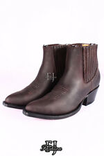 GRINDERS MAVERICK BROWN Mens Leather Chelsea Ankle Western Boots Shoes