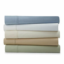 INDIKO 500TC 100% PURE COTTON QUEEN KING DOUBLE FITTED SHEET SET 3PIECES