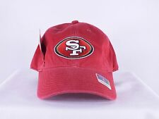 SAN FRANCISCO 49ERS NFL ADULT S, M SIZE RED FITTED CAP HAT BY REEBOK D158