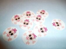 Pre Cut One Inch SKULL WITH BOW Bottle Cap Images! FREE SHIP