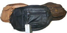 Unisex Fashion Fanny Bags Made of  Cow hide Leather Pack Waist Bag Travel Belt