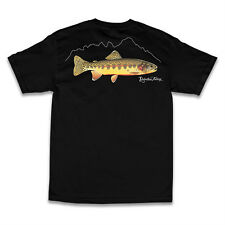 "RELENTLESS FISHING "" GOLDEN TROUT "" SHORT SLEEVE T-SHIRT COLOR BLACK SELECT SIZE"
