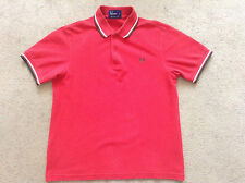 Mens Red Fred Perry Polo Shirt Size Medium