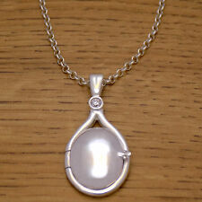 925 Sterling Silver H2O Just Add Water Mermaids White CZ Locket Necklace & Chain