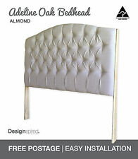 ADELINE OAK Upholstered Bedhead / Headboard for Ensemble Bed