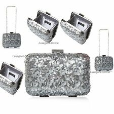Brand New Carvela Kurt Geiger Ladies Women Metallic Sequins Clutch Bag RRP £45