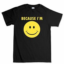 Pharrell Williams Because Im Happy Funny Mens Womens Kids Sizes T shirt Tee Top