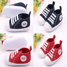 0-18 Month Baby Toddler Shoes Canvas Boy Girl Infant Shoes Size 1 2 3 Prewalker