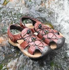 Outing Camping Men's Hiking Antiskid Leather closed toe athletic water Sandals