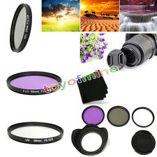 58mm Slim CPL UV FLD Lens Hood Cap Filter Kit for Canon EOS 450D 500D 700D 1200D