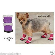 East Side Collection Classic Sherpa Dog Boots XL Violet or Raspberry